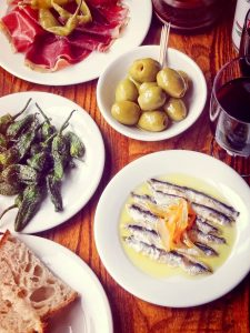 Boquerones / Olives / Beef Cecina / Padron Peppers
